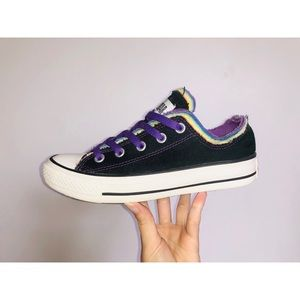 All Star Black, Purple, and Rainbow Converse